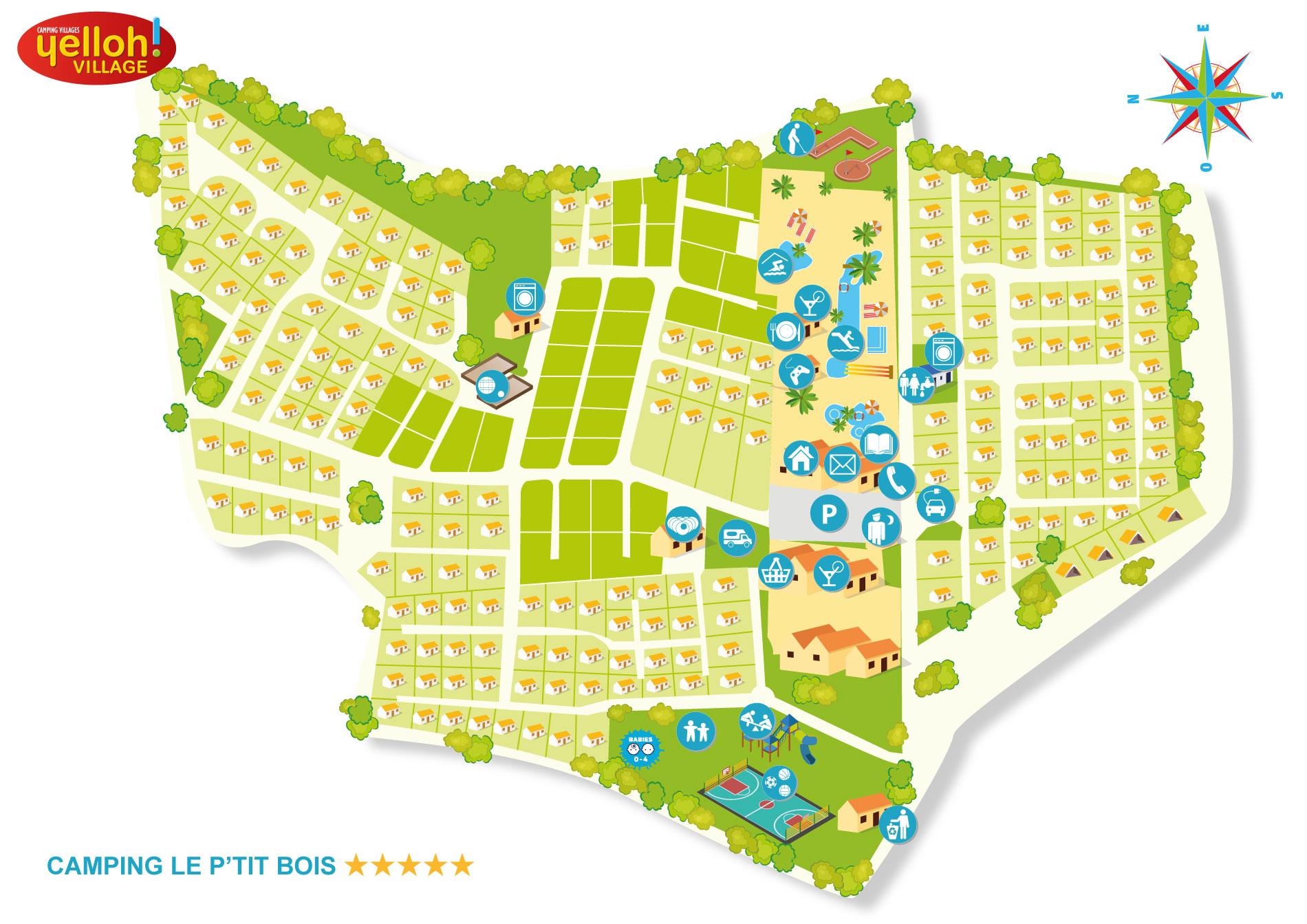 Camping Le P'tit Bois  Yelloh! Village in Saint Malo ~ Le Petit Bois St Malo